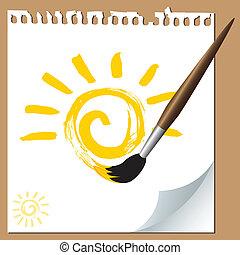Pintura de pincel solar