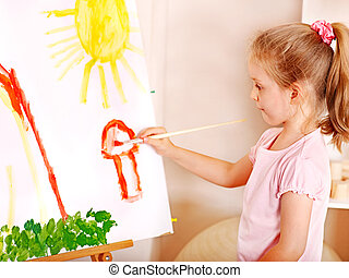Pintura infantil a gusto.