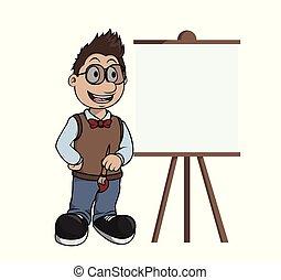 pintura, lona, artista