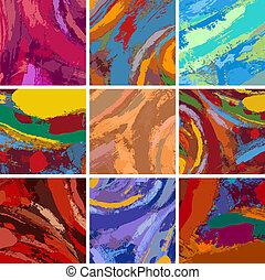 pintura, resumen, diseño determinado, plano de fondo