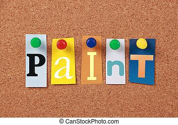 pintura, sola palabra