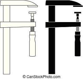 Pinza, herramienta, icono de trabajo