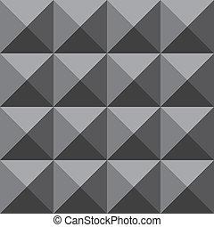 pirámide, pared, grayscale, cara, cuatro, plano de fondo, trydimensional, ilusión