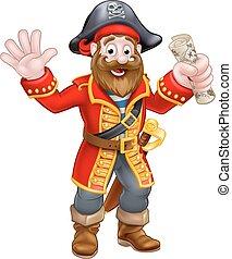 Pirata de dibujos animados