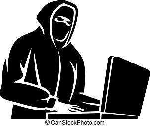 pirata informático, icono de la computadora
