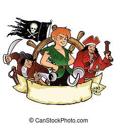 piratas, peter pan