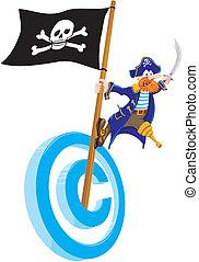 piratería, propiedad literaria
