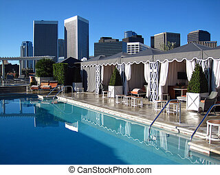 piscina, techo