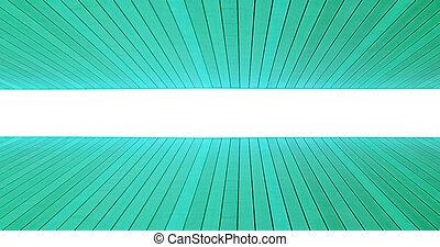 Piso abstracto con baldosas de madera. Color turquesa
