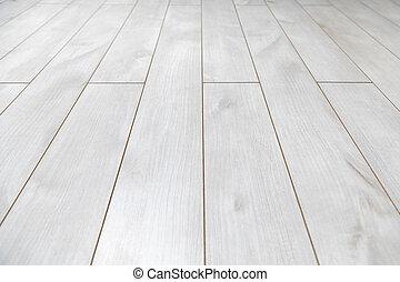 Piso blanco de madera como textura de fondo