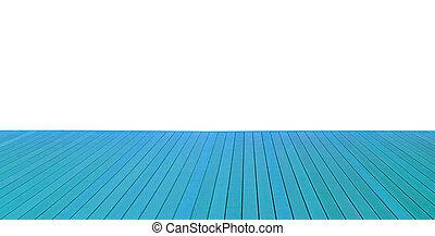 Piso de madera con tablones de madera aislados en el fondo blanco