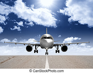 pista, avión