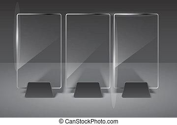 Pista de vidrio. Ilustración del vector. Eps10