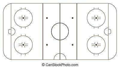 pista del hielo, hockey