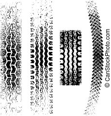 pistas, grunge, neumático
