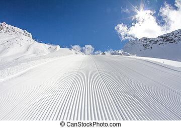 Pisto de esquí perfectamente preparado