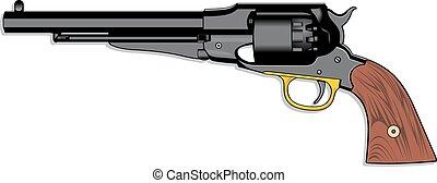 (pistol), arma de fuego de mano, viejo