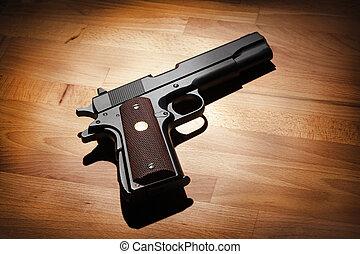 pistola, semiautomático, .45, calibre