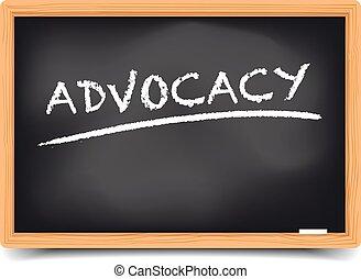 pizarra, advocacy