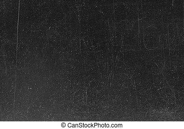 pizarra, /, tiza, negro, pizarra, blanco, huellas, texture., vacío
