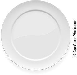 placa, blanco, cena, blanco