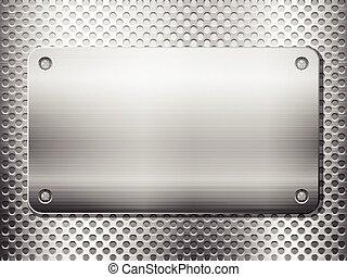 Placa cuadrada de metal
