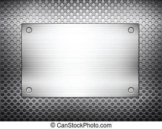 Placa cuadrada de metal negro 2