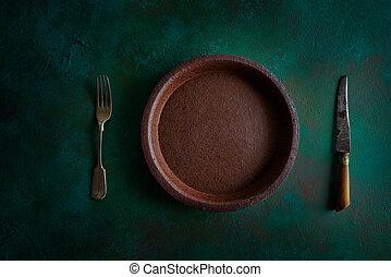 Placa de cerámica de cerámica en grunge