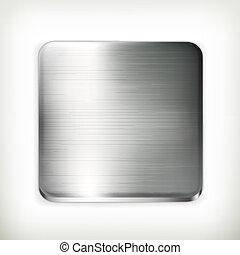 Placa de metal, vector