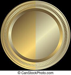 Placa de oro y plata (vector)