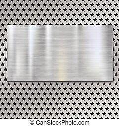 Placa de textura de metal