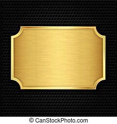 Placa de textura de oro, vector ilustrado