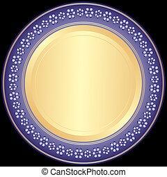 Placa decorativa Violet-golden
