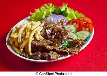 placa, kebab, turco