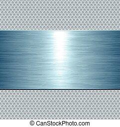 Placa metálica azul