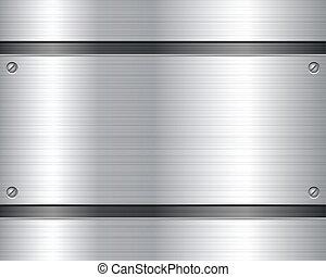 Placa metálica de fondo 2
