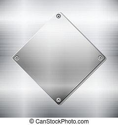 Placa metálica de fondo