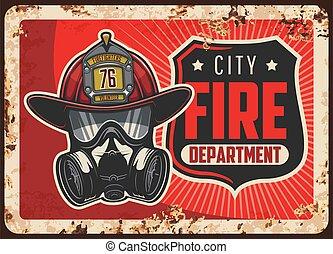 placa, vector, oxidado, ciudad, metal, departamento, fuego
