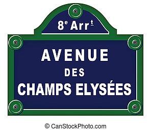 placas, avenida, parisiense