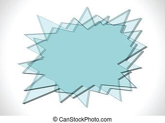 Placas de cristal con forma de punta