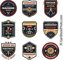 Placas de taller antiguas