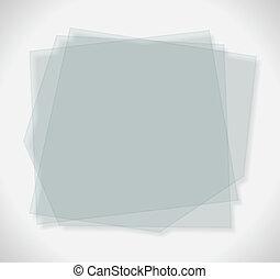 Placas de vidrio transparentes