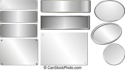 placas, plata