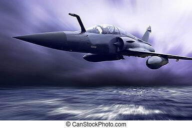 Plan aéreo militar a la velocidad