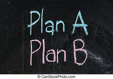 Plan B estrategia opción de planificación alternativa de planificación de negocios símbolo negro aislado