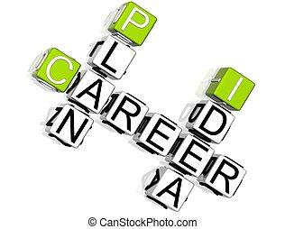 Plan de carrera idea crucigrama