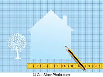 Plan de casa y diseño