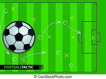 Plan de estrategia de fútbol. Fondo de fútbol.