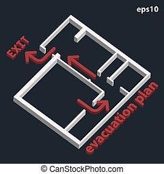 Plan de evacuación 3D