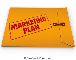 Plan de marketing confidencial sobre estrategia secreta